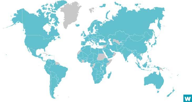 paises participantes da pesquisa